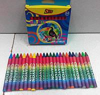 """Карандаши восковые цветные (24 цвета), ТМ """"Olli"""""""