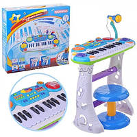 Детское пианино-синтезатор 7235 на ножках со стульчиком. 2 цвета