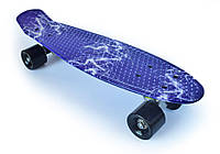 "Пенни Борд ""Молния"" 22″ Черные Колеса / пенниборд скейт (penny board), скейтборд"