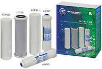 Комплект сменных картриджей для систем под мойку и систем обратного осмоса Aquafilter RO6-CRT