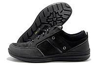 Кроссовки подростковые Ecco черные замшевые (экко)
