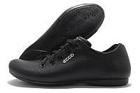 Кроссовки подростковые Ecco de Lux черные (экко)