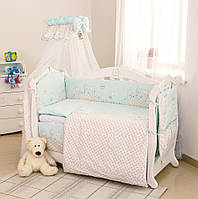 Набор детской постели в кроватку Twins Comfort С-004 Котята, цвет бирюза