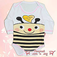 Бодик Весёлая пчёлка для мальчиков и девочек Рост: 62- 80 см (4592-1)