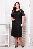 Платье с кружевным элементом цвет черный