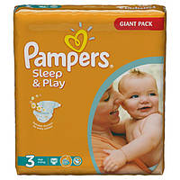 Подгузники Pampers Sleep&Play Midi 3 (4-9 кг) JUMBO PACK 100 шт.
