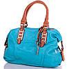 Женская яркая сумка из кожезаменителя GUSSACI (ГУССАЧИ) TUGUS901-4-4 (голубой)