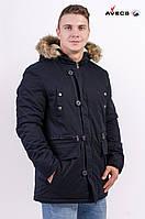Куртка мужская парка AV-17280 Dark blue Темно-синий