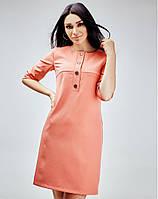 Женское платье из костюмной ткани