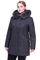 Однотонная зимняя куртка