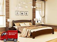 Кровать полуторная Венеция Люкс из натурального дерева