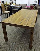 Большой обеденный стол 200х100 см с пластин массива кокосовой пальмы