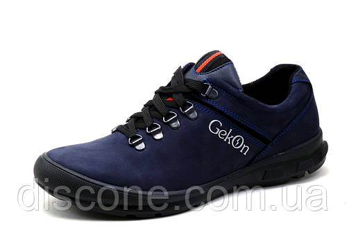 Туфли мужские Gekon, кожаные, спортивные, темно-синие, р. 39 40 44 45