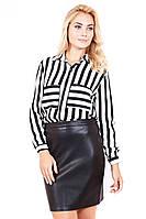 Рубашка полосатая, шифоновая рубашка, блуза для офиса, блузка в полоску, дропшиппинг поставщик