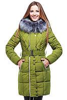 Молодежная курточка с мехом чернобурки, фото 1