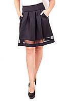Юбка Складка сетка внизу, юбка из дайвинга, юбка с кружевом, юбки оптом, дропшиппинг украина