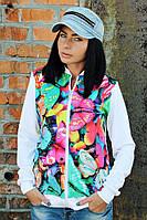 Бомбер женский принт Бабочки, женская одежда от производителя, недорого, дропшиппинг поставщик