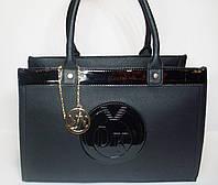 Женская сумка реплика Michael Kors черного цвета