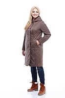 Оригинальное демисезонное пальто. Стежка купон.Большие размеры