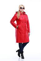 Удлиненное демисезонное пальто Классика Большие размеры