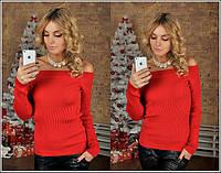 Женский свитер вязка резинка
