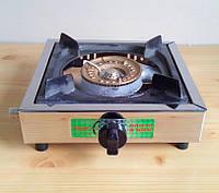 Настольная газовая плита Jinhuali (SuperPlast by Ukraine) мини-конфорка нержавеющая сталь