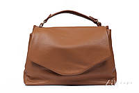 Женская кожаная сумочка коричневого цвета. Модель BYZ215011 Zaps.