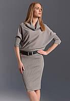 Женское трикотажное платье-туника серого цвета. Модель ZS261 Sunwear. Коллекция осень-зима 2016-2017