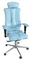 Ортопедическое кресло Элеганс с подголовником ELEGANCE Design (Экокожа светло-синий)