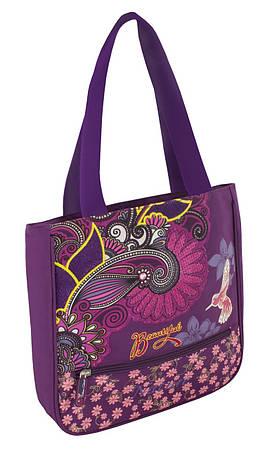 """Дизайнерская сумка для подростка """"Nature"""" Cool for school CF85297 фиолет/печать"""