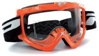 Мотоочки PROGRIP Маска / очки кроссовые Оранжевого цвета BASE LINE NO FOG + ANTISCRATCH PG 3201