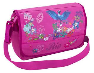 """Розовый современный мессенджер на плечо для девушек 24x37x10 см. """"Rio"""" Cool for school RI00801"""
