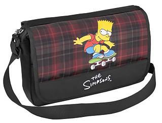 """Прикольная сумка через плечо для школы """"The Simpsons"""" Cool for school SI08802 черный/печать"""