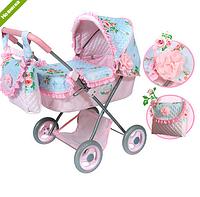 Коляска для куклы «Классик» с сумкой, розовая 85008