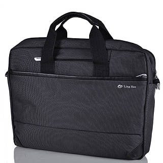 """Удобная сумка для ноутбука 15,4"""" Ling Hao FO-243-2 черный"""