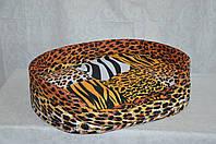 Лежак для котов и собак  из бязи Леопард