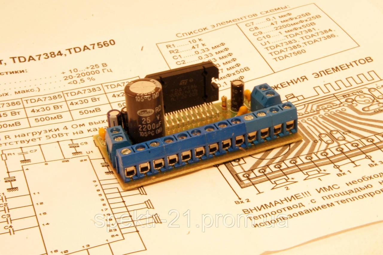 Tda7385 схема усилителя мощности