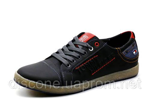 Туфли Hilfiger Denim, мужские, кожаные, спортивные, черные, р. 42 45