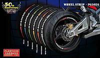 PROGRIP Наклейки  на обода мотоцикла с надписью  PG 5026 WHEEL STRIPS  Белая артикул PG 5026 / WHITE