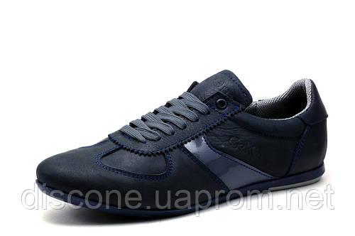 Туфли Gekon, мужские, кожаные, спортивные, темно-синие, р. 41 42 44