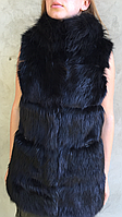 Модная жилетка меховая