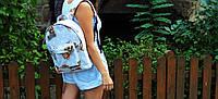 Водонепроницаемый хлопковый рюкзак с котиками и собачками