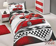Комплект постельного белья 160х220 HOBBY Poplin X-Racing красный