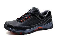 Туфли кожаные Gekon спортивные, мужские, черные, р. 41 44 45