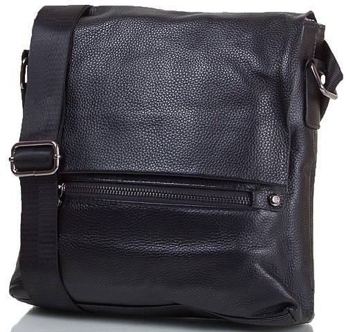 Качественная мужская сумка-почтальонка из натуральной кожи  ETERNO (ЭТЭРНО) TU1206-3-black черный