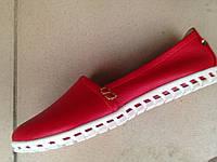 Женские модные красные кожаные мокасины, разные цвета