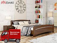 Кровать двуспальная Венеция из натурального дерева