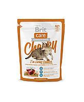 """Брит Кер """"Чики"""" сухой супер-премиум корм для взрослых котов, живущих на улице, с олениной и рисом, 400гр"""