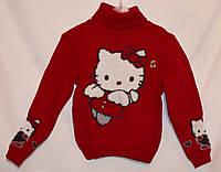 """Детский вязаный свитер """"Kitty"""" для девочек"""