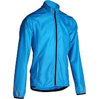 Куртка мужская велосипедная, ветрозащитная Btwin 300 голубая